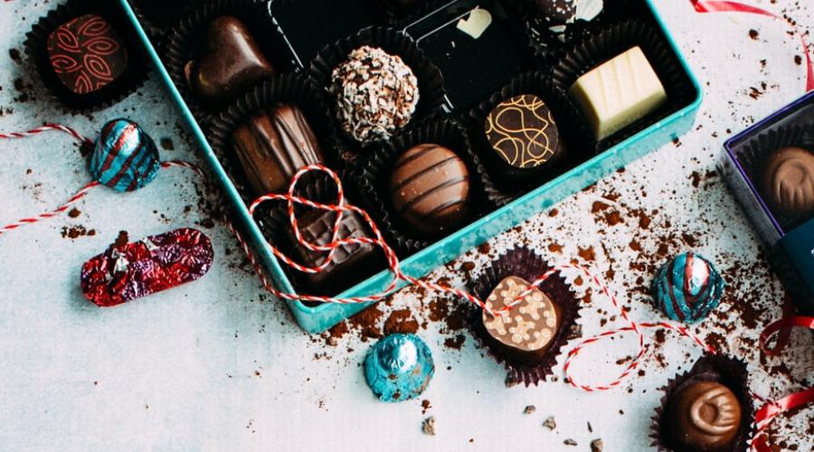 šokolādes konfekšu kaste