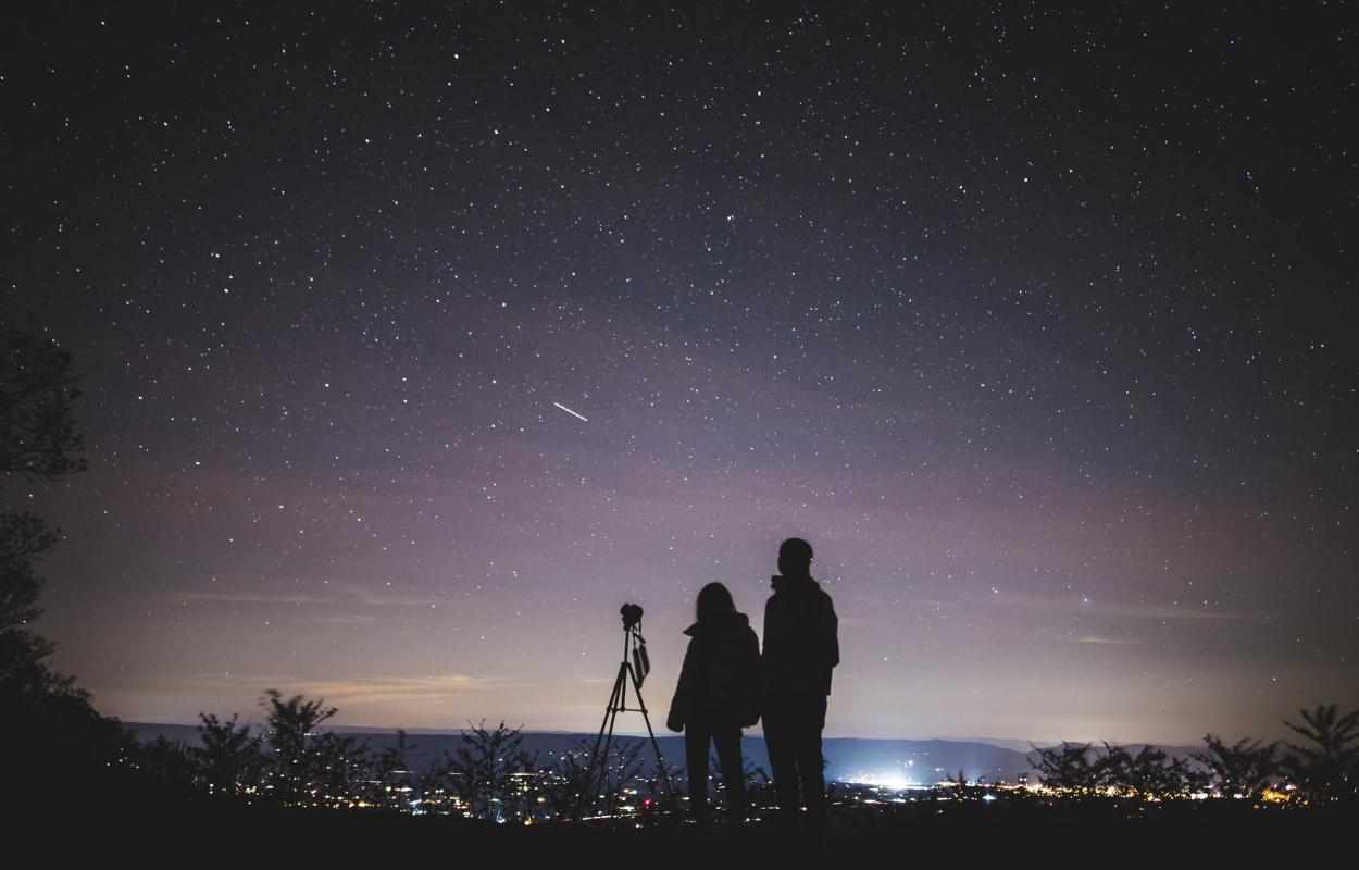 Romantiska zvaigžņu vērošana